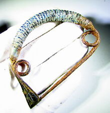 RARE & LARGE ANCIENT CELTIC IRON AGE BRONZE FIBULA / BROOCH  - c. 400 BC - EF70