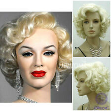 2017 Cos blonde short  curly  cosplay full Heat-Resistant  wig