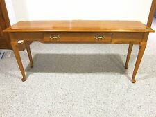 Ethan Allen Furniture Sofa Table Heirloom Maple Wood