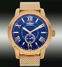 NEW Balmer 14058 Mens Noble Swiss Rose Gold Steel Watch Face