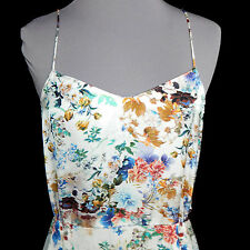 ZARA Floral Garden Party Spaghetti Strap Slip Dress Size Small