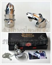 NANA Lighter Necklace + Armour Ring Shinichi Silver Cosplay Ai Yazawa Free Ship