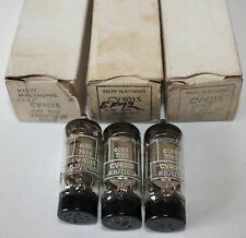 Lot of 3 Vintage CV4015/EF92 valves/vacuum tubes