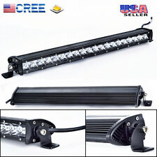 22Inch Cree Slim Single Row LED Work Light Bar Flood 4x4 Offroad Jeep SUV Truck