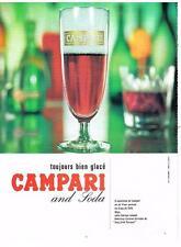 PUBLICITE   1967  CAMPARI   & soda  apéritif
