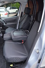 Citroen Berlingo Van 2008+ Tailored Waterproof Front Triple 3 Black Seat Covers