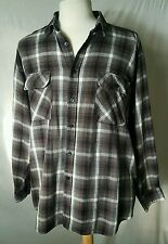Vtg 80s Button-Up L/S Flannel Mens Shirt Appalachian Trail Grunge Hippie Shirt