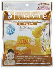 NEW Pure Smile Essence Mask 18ml × 8 sheets Royal jelly From Japan F/S