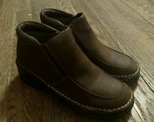 Dr. Scholl's Brown Leather Zipper Ankle Boots Size 5.5