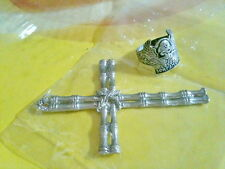 Pendant Cross Skull Ring