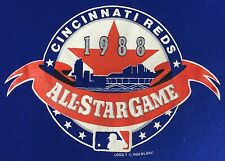 True Vintage 1988 Cincinnati Red Baseball All-Star Game Graphic Blue T-Shirt L