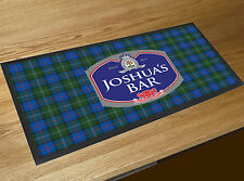 Personalised beer label Tartan Beer label Bar runner counter mat Pubs
