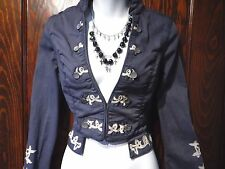 STEAMPUNK CIRCUS JACKET cutaway victorian riding burlesque cropped coat top S 3A