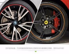 Car Vehicle Wheel Rims Protector Tire Guard Line Rubber Moulding Red Easy DIY