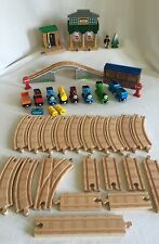 Thomas & Friends Wooden Train 42 pc Lot Sodor Signal House Conductor Shed & MORE