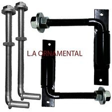"3/4"" J-Bolt Adjustable Kit Gate Bolt Hinges 12"" Long Bolts - Wood Large Post"