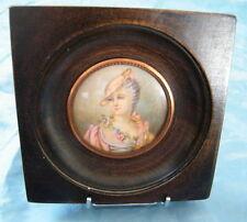 Miniature peinture Portrait Noblesse Mme de Pompadour,non signé,fin 19e,n°24