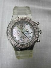 TECHNOMARINE TECHNO MILLENIUM WHITE DIAMONDS LIMITED ED CHRONOGRAPH WATCH w BOX
