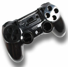 Neu Playstation PS4 Controller Case Hülle Gehäuse Chrome Modding Cover Schwarz