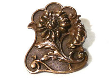 Collection bouton à queue ancien fleurs no 3 bronze XXème 20ème button