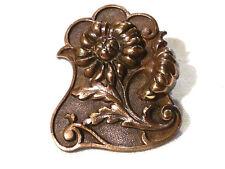 Collection bouton à queue ancien fleurs no 3 bronze XXème 20ème button