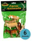 Plastic Animals - Farm / Wild / Bugs - Toy Figures - Set of 6 - UK SELLER T001