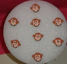 "Monkey,Jungle,Edible Cupcake Topper,Royal Icing, .75""DecoPac,Brown,Safari."