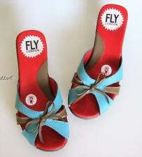 FLY London Leather Mules Women's 37
