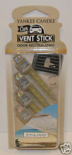 NEW YANKEE CANDLE SUN & SAND CAR VENT STICK CLIP AIR FRESHENER PACK OF 4 PIECES