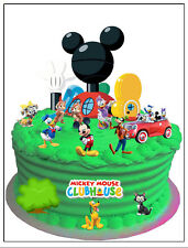 Mickey Mouse Clubhouse wafer card cake scene (uncut) 18 pieces