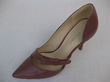 Nine West Womens Shoes NEW $90 Janice Rose Pink Leather Pump 8.5 M