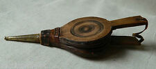 SMALL VICTORIAN WOOD BELLOW W LEATHER & METAL PARTS AGRICULTURE POWDER