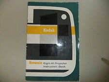 Instructions cine projector  KODAK Eight-61 8mm  - CD/Email