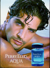 2013 Print ad for Perry Ellis Aqua/Sexy Male Model/Blue Eyes~Not Product -080513