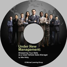 Auto Sales Training - Used Car Sales Manager eBook on CD