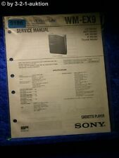 Sony Service Manual WM EX9 Cassette Player (#5186)