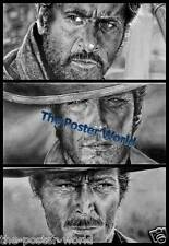 THE GOOD THE BAD AND THE UGLY VINTAGE MOVIE CLINT EASTWOOD WALL ART PRINT POSTER