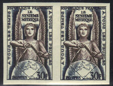 FRANCE MNH 1954 ALLEGORY ISSUE - IMPERF PAIR - ART