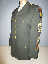 VIETNAM WAR SPECIAL FORCES SERGEANT MAJOR DRESS UNIFORM TUNIC DATED 1967