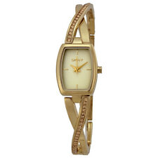 DKNY Crosswalk Champagne Dial Gold-plated Ladies Watch NY2237