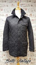 B312A Rare Barbour Mens Matt Barnes Black Quilt Lightweight Jacket, S / M