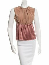 GORGEOUS PRADA rose silk tank blouse sz 44