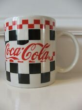 Gibson Coca Cola Coffee Cup Mug Red Black on White Background China Dinnerware