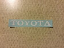 Vintage look Toyota decal for Tamiya hi lux RC4wd trail finder 2 tf2 White