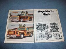 "1974 Chevy C10 Step-Side Pickup Vintage Article ""Stepside in Gold"""