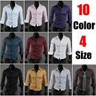 Crazy Sale Men Fashion Slim Fit Luxury Long Sleeve Casual Dress Tee Shirts Tops