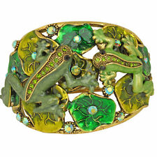 NEW KIRKS FOLLY FLOATING FROGS CUFF  BRACELET