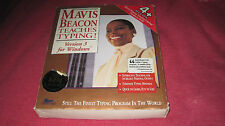 "MAVIS BEACON TEACHES TYPING VERSION 3 WINDOWS 3.5"" DISKS COMPLETE"