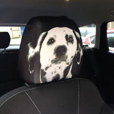 DALMATIAN CAR SEAT HEAD REST COVERS PACK OF 2 MADE IN YORKSHIRE IDEAL GIFT