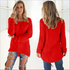 Womens Loose Knitted Long Sleeve Jumper Sweater Ladies Casual Knitwear Tops Warm